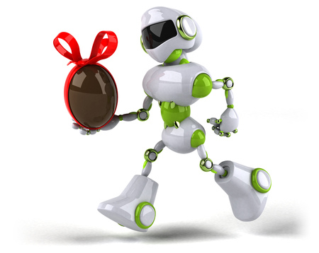 Green robot - 3D Illustration Standard-Bild - 104062596