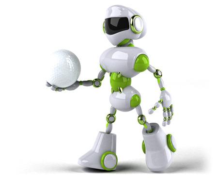 Green robot - 3D Illustration Standard-Bild - 104316049