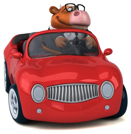 Fun cow - 3D Illustration Banque d'images - 104316221
