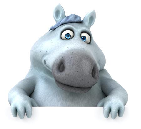 Fun horse - 3D Illustration Reklamní fotografie - 104317010