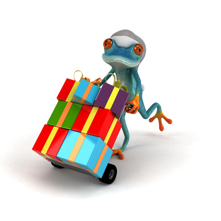 Fun frog - 3D Illustration Stock Illustration - 104317898