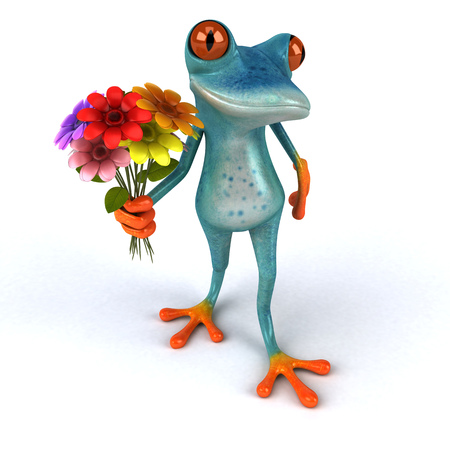 Fun frog - 3D Illustration Stock Illustration - 104125688