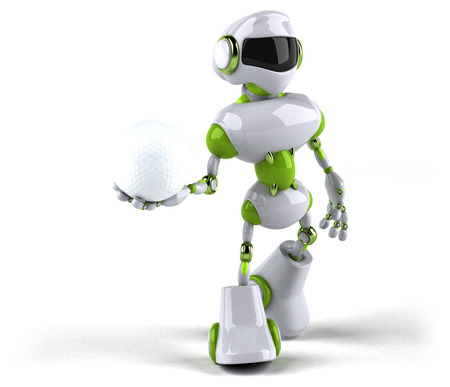 Green robot - 3D Illustration Standard-Bild - 104123123