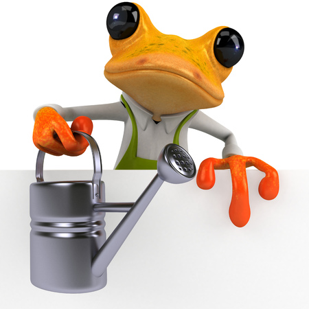 Fun frog - 3D Illustration Stock Illustration - 104122611