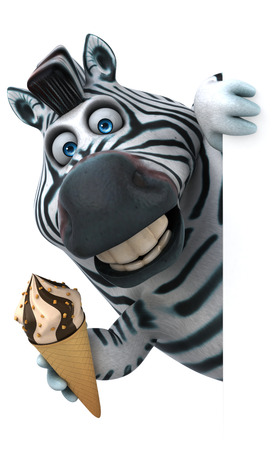 Fun zebra - 3D Illustration Stockfoto