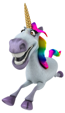 Fun unicorn - 3D Illustration 스톡 콘텐츠