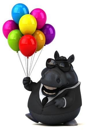 Fun horse - 3D Illustration Reklamní fotografie - 104114880