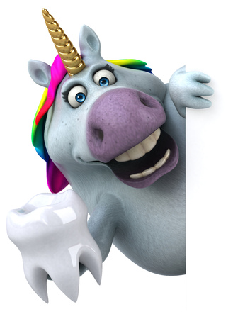 Fun unicorn - 3D Illustration Banque d'images - 104062403