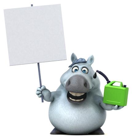 Fun horse - 3D Illustration Reklamní fotografie - 103940113