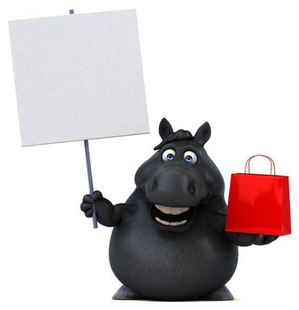 Fun horse - 3D Illustration Reklamní fotografie - 103944981