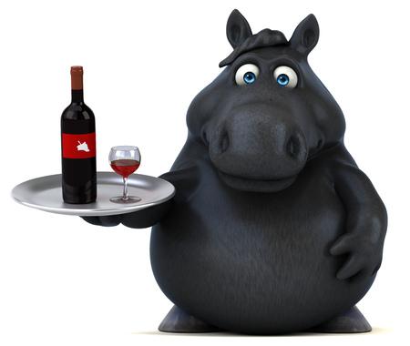 Fun horse - 3D Illustration Reklamní fotografie - 103947953