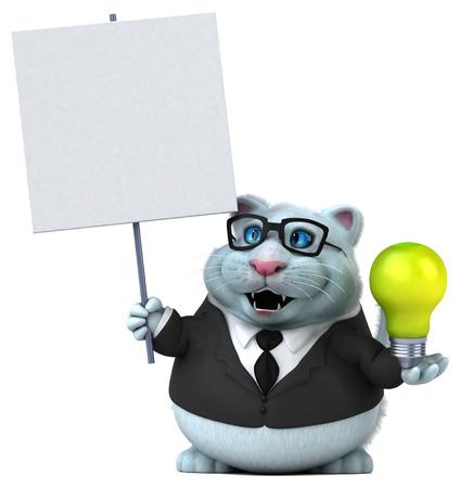 Fun cat - 3D Illustration Stock Photo