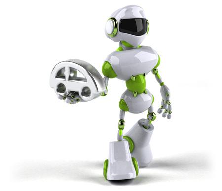 Green robot - 3D Illustration Standard-Bild - 103956743
