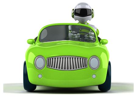 Green robot - 3D Illustration Standard-Bild - 103951216