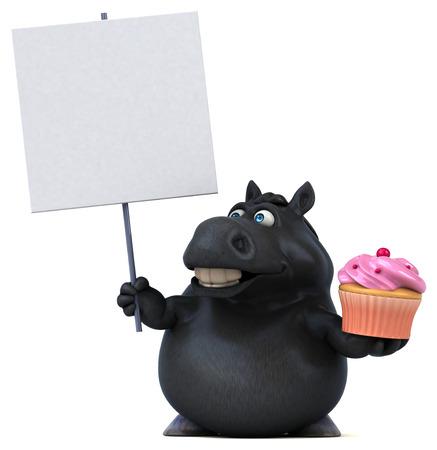 Fun horse - 3D Illustration Reklamní fotografie - 103855154