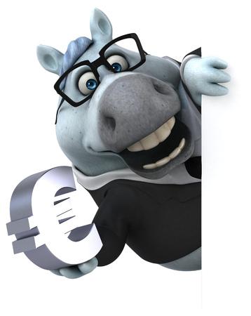 Fun horse - 3D Illustration Reklamní fotografie - 103855317