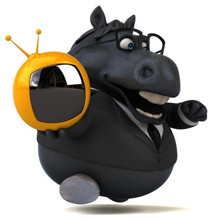 Fun horse - 3D Illustration Reklamní fotografie - 104577999