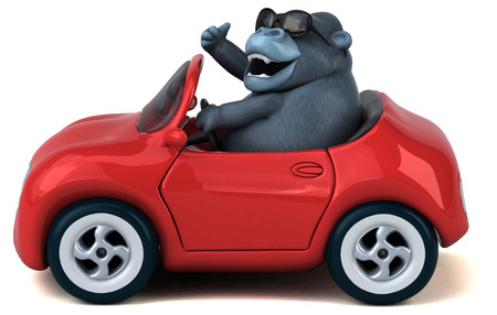 Fun gorilla - 3D Illustration Standard-Bild - 104645012