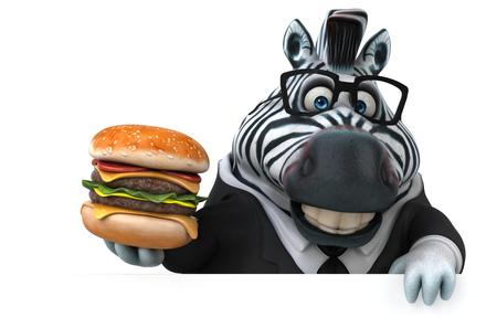 Fun zebra - 3D Illustration Imagens