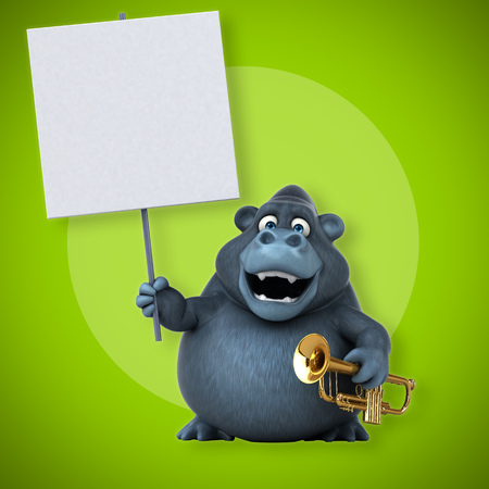 Fun gorilla - 3D Illustration Standard-Bild - 106289790