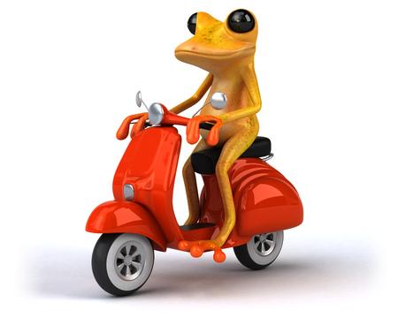 Fun frog- 3D Illustration Stock Illustration - 106290509