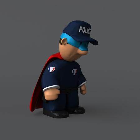 Police - 3D Illustration