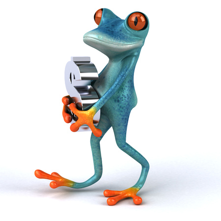 Fun frog- 3D Illustration Stock Illustration - 106293432