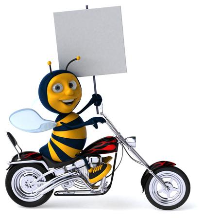 Fun bee - 3D Illustration 版權商用圖片