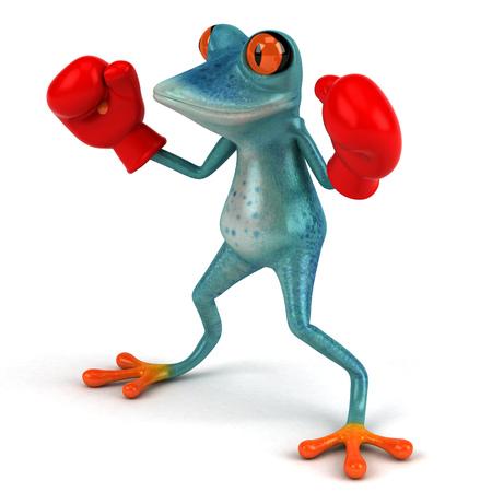 Fun frog - 3D Illustration Stock Illustration - 107218778