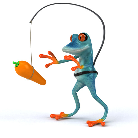 Fun frog - 3D Illustration Stock Illustration - 107218872