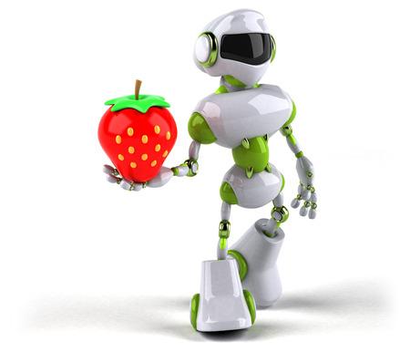 Green robot - 3D Illustration Standard-Bild - 109064275
