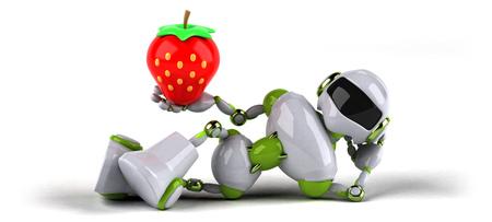 Green robot - 3D Illustration Standard-Bild - 109131489