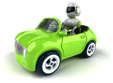 Green robot - 3D Illustration Standard-Bild - 109063673