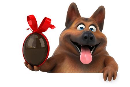Fun german shepherd dog - 3D Illustration Zdjęcie Seryjne