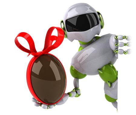 Green robot - 3D Illustration Standard-Bild - 111083134