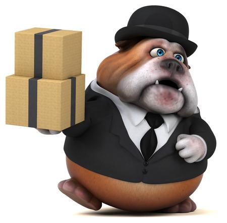 Fun bulldog - 3D Illustration Zdjęcie Seryjne - 110969207