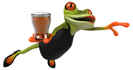 Fun frog - 3D Illustration Фото со стока - 111569340