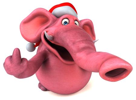 Pink elephant - 3D Illustration Imagens - 111700435