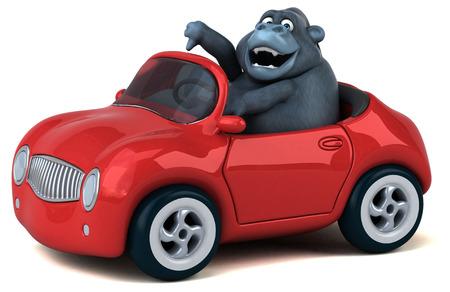 Fun gorilla - 3D Illustration Standard-Bild - 111715620