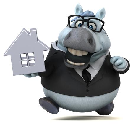 Fun horse - 3D Illustration Reklamní fotografie - 113034295