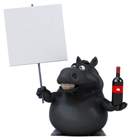 Fun horse - 3D Illustration Reklamní fotografie - 113029773