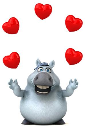 Fun horse - 3D Illustration Reklamní fotografie - 113049487