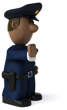 Fun policeman - 3D Illustration 写真素材 - 113052325