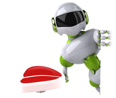Green robot - 3D Illustration Standard-Bild - 113786949