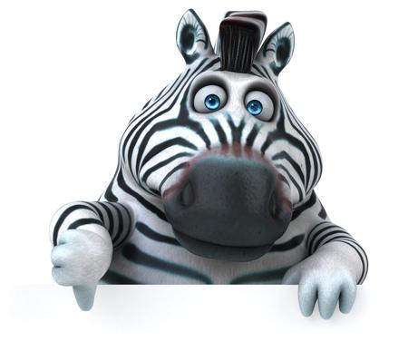 Fun zebra - 3D Illustration Reklamní fotografie
