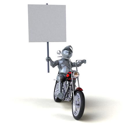 Fun knight - 3D Illustration Stock Photo