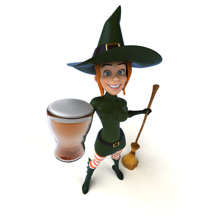 Sexy witch - 3D Illustration Imagens - 114908868