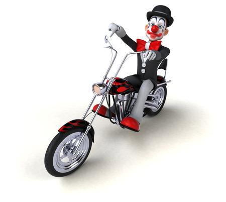 Fun clown - 3D Illustration 免版税图像