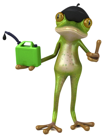 Fun french frog - 3D Illustration Imagens - 116095293