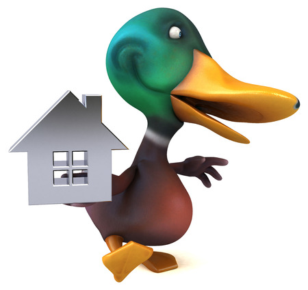 Fun duck - 3D Illustration Foto de archivo - 116095588